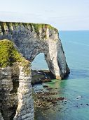 View Of Cliff With Arch On English Channel Coast