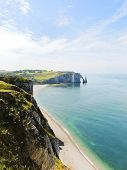 Cliffs On Cote D'albatre Of English Channel Coast