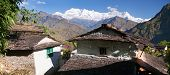 Beautiful Village And Dhaulagiri Himal