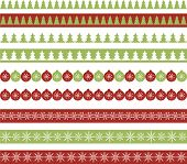 image of snow border  - Vector seamless horizontal borders for Christmas design - JPG