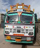Colorful Truck In Indian Himalayas