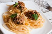Italian Pasta With Beef In Tomato Sauce