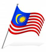 Flag Of Malaysia Vector Illustration