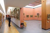 Visitor In Museum