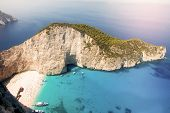 picture of shipwreck  - Shipwreck on the beach Navagio - JPG