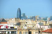 Barcelona skyline and Torre Agbar, Spain