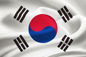 picture of hangul  - flag of South Korea waving in the wind - JPG