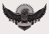 Illustration of emblem with eagle.