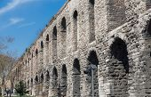 pic of aqueduct  - Side view of Valens Aqueduct in Istanbul - JPG