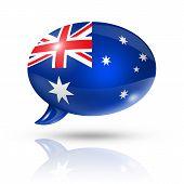 Australian Flag Speech Bubble
