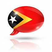 East Timor Flag Speech Bubble