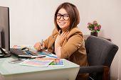 ������, ������: Cute Female Designer In An Office