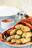 Cheesy Asiago Breadsticks And Dip