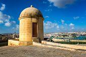 Watch Tower In Hastings Garden In Valletta, Malta