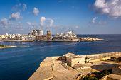 View On Tigne Point And Sliema District From Valletta, Malta