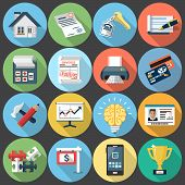 Flat Icons for Web and Applications