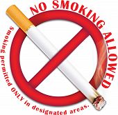 No smoking allowed - sticker for print