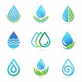 picture of oil drop  - Vector water and oil logo design elements  - JPG