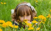 Portrait with dandelions