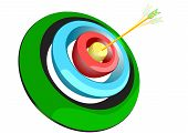 pic of archer  - archer target isolated on a white background - JPG