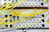 stock photo of telecommunications equipment  - Telecommunication equipment optical multiplexor in a datacenter of mobile operator - JPG