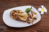 stock photo of cuttlefish  - Grilled cuttlefish with spices in the bowl - JPG