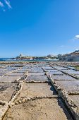 picture of gozo  - Salt evaporation ponds also called salterns or salt pans located near Qbajjar on the maltese Island of Gozo - JPG
