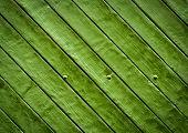 Green Wooden Slatted Board