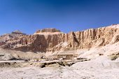 stock photo of hatshepsut  - Overview Temple of Queen Hatshepsut at Luxor .Egypt