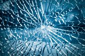 Broken Toughened Glass Closeup