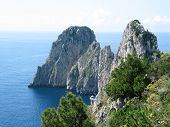 Capri, Faraglioni rocks poster
