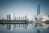 Guangzhou Skyline With Reflection