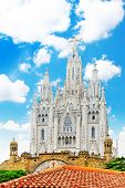 image of sacred heart jesus  - Temple on top of Mount Tibidabo the Temple of the Sacred Heart - JPG
