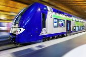 picture of passenger train  - Modern Fast Passenger Train - JPG