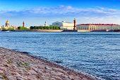 stock photo of sankt-peterburg  - View of Saint Petersburg from Neva river - JPG