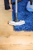 Metal Pipe Of Vacuum Cleaner In Action.