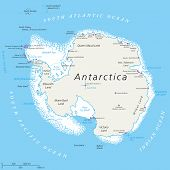 pic of pole  - Antarctica Political Map with south pole - JPG