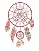 picture of dream-catcher  - Vector vintage illustration o Dream Catcher - JPG