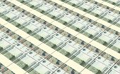 picture of bundle money  - Russian money bills stacks background - JPG