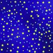 stock photo of starry  - Star Blue Sky Background - JPG