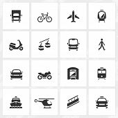 picture of transportation icons  - Transport vector icons - JPG