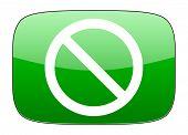 foto of denied  - access denied green icon   - JPG