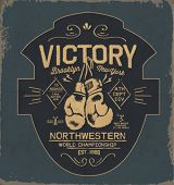 picture of knockout  - vintage gloves illustration with type 2 - JPG