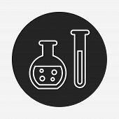 picture of beaker  - Experiment Beaker Line Icon - JPG