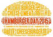 picture of hamburger  - Hamburger day 2015 theme  - JPG