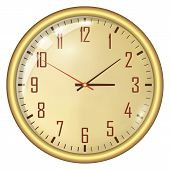 picture of analogy  - Analog Clock Isolated on a White Background - JPG