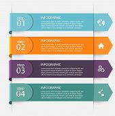 Vector Colorful Info Graphics For Your Business Presentations. poster