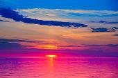Sonnenuntergang Afterglow