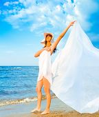 stock photo of nudism  - Woman Relaxation Wings - JPG