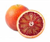 Full And Half Of Blood Red Oranges